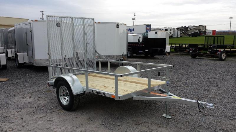 2018 Load Rite 5x8 Galvanized Open Side Utility Trailer