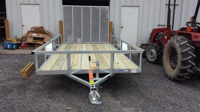 2018 Load Rite 6-5x14 Galvanized Open Side Rail Utility Trailer