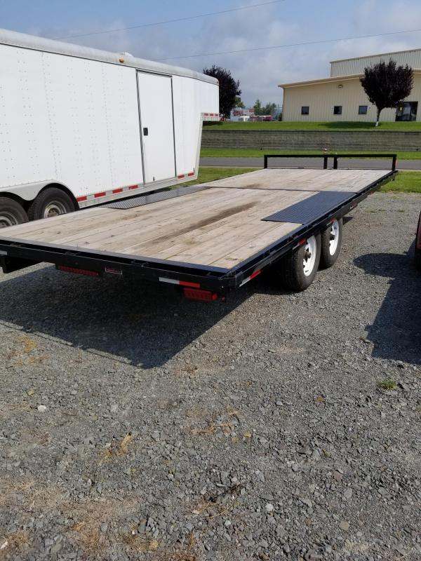2014 Holmes 8x20 deckover equip hauler 10k