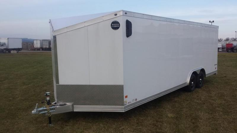 2017 Wells Cargo 8-5x24 Silver Sport Enclosed Cargo Trailer