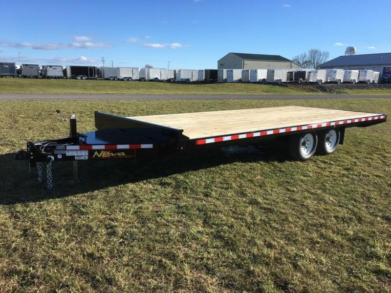 2018 Midsota 8-5x20 Nova Wood Deckover 10K Flatbed Trailer