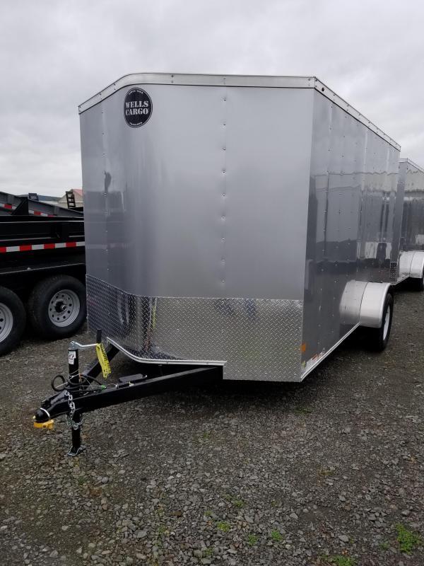 2018 Wells Cargo 7x12 Fast Trac 3.5k Enclosed Cargo Trailer