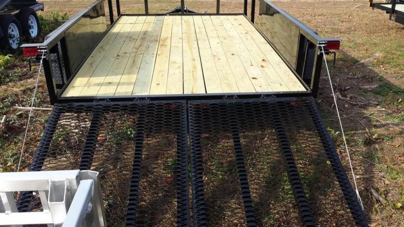 2018 Holmes 6-10x12 Commercial Open Side Rail Utility Trailer