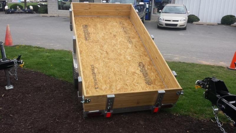 2016 Worthington Trailers 4x8 Deckover Tilt Bed Utility Trailer