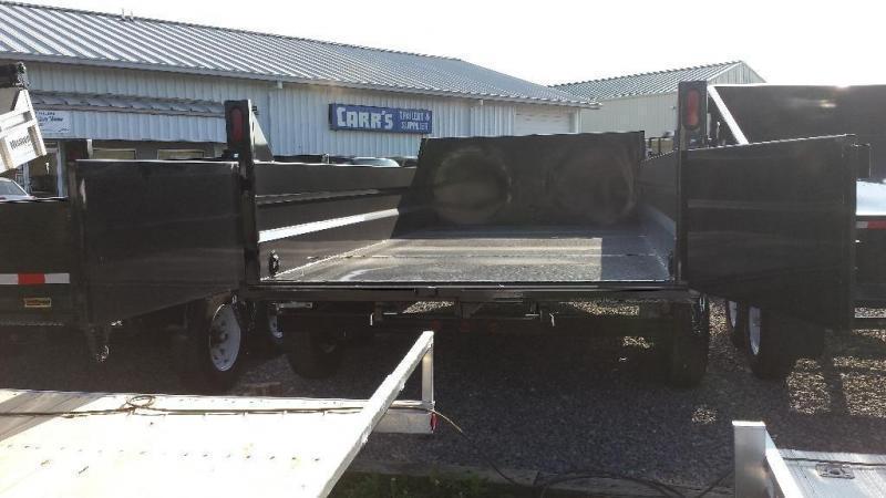 2018 Sure-Trac 7x12 low profile dump trailer -12k -ramps -scissor lift
