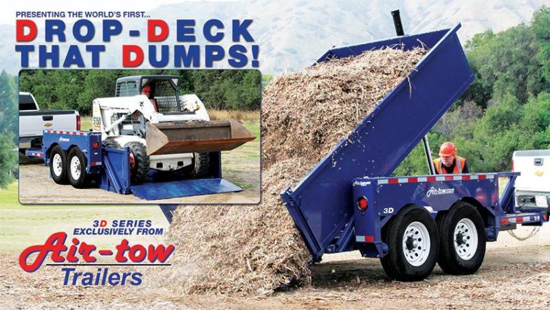 2017 Air Tow 6x11 Drop-Deck Dump Trailer