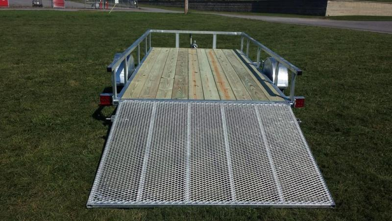 2017 Load Rite 6-5x14 Galvanized Open Side Rail Utility Trailer
