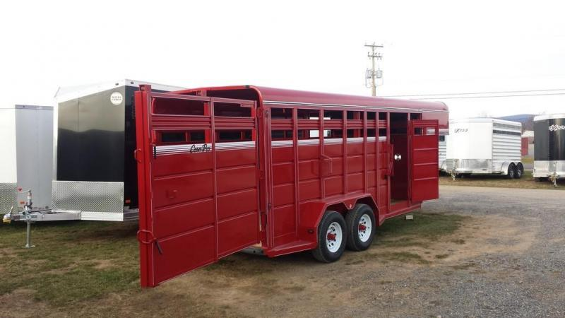 2017 CornPro Trailers 7x16 10k Gooseneck Livestock Trailer