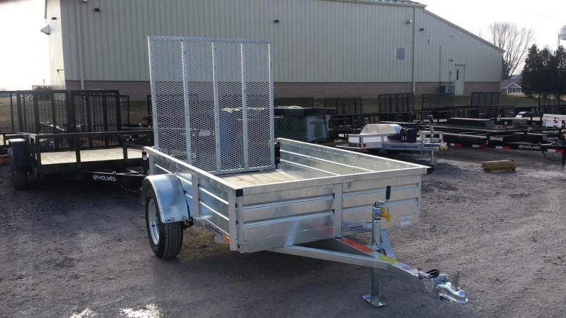 2018 Load Rite 5x8 Galvanized Solid Side Utility Trailer