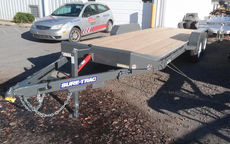 2018 Sure-Trac 7x20 10K tilt deck Car Trailer