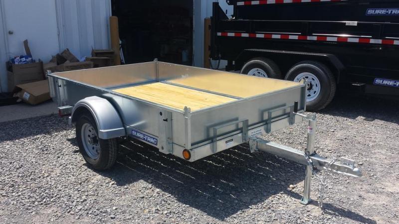 2017 Sure-Trac 5x8 Galvanized Tilt Bed Utility Trailer