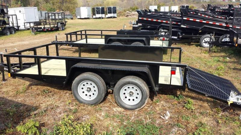 2017 Holmes 6-10x12 Commercial Open Side Rail Utility Trailer