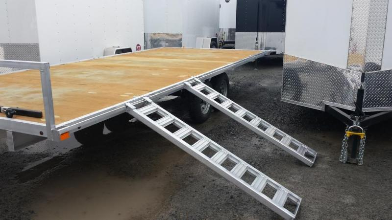 2016 Worthington Trailers 8x16 Aluminum Deckover 4 Place ATV Trailer