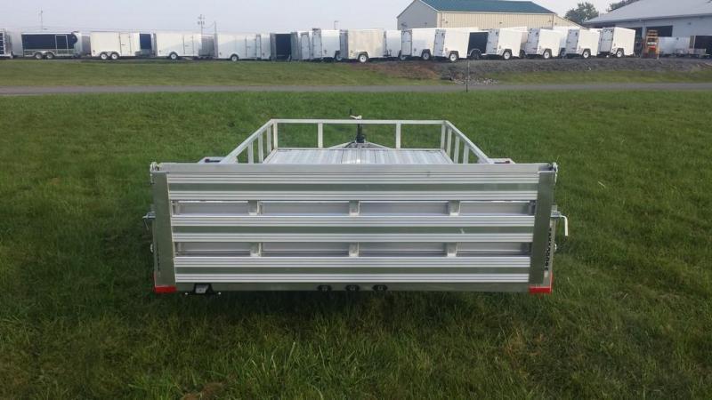 2018 Stealth Trailers 6-5x14 Alum Open Deck Rail Utility Trailer