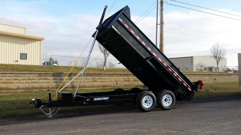 2017 Sure-Trac 7x14 Low Profile Dump Trailer