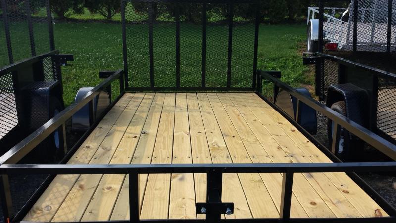2018 Holmes 6-4x12 Open Side Rail Utility Trailer