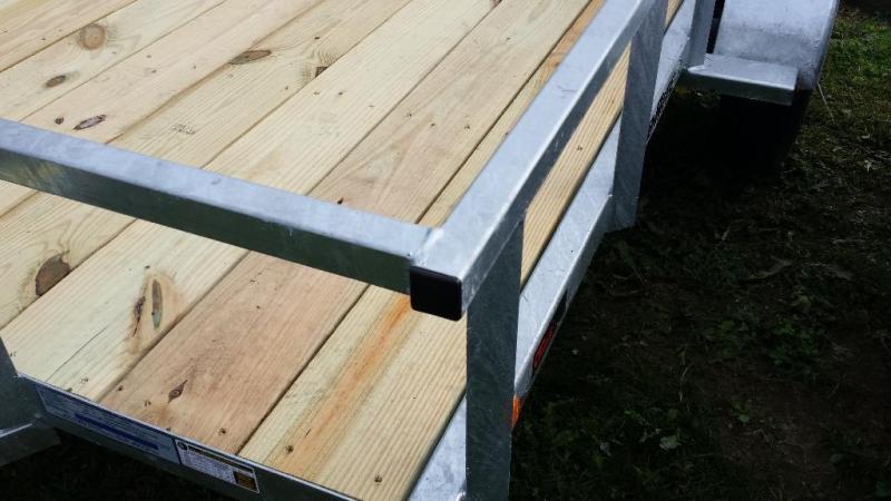 2018 Load Rite 6.5x10 galvanized utility trailer -rail sides