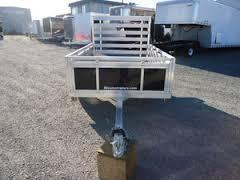 2016 Mission 5x8 Solid Side Aluminum Utility Trailer