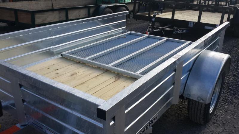 2017 Load Rite 5x8 Galvanized Solid Side Utility Trailer