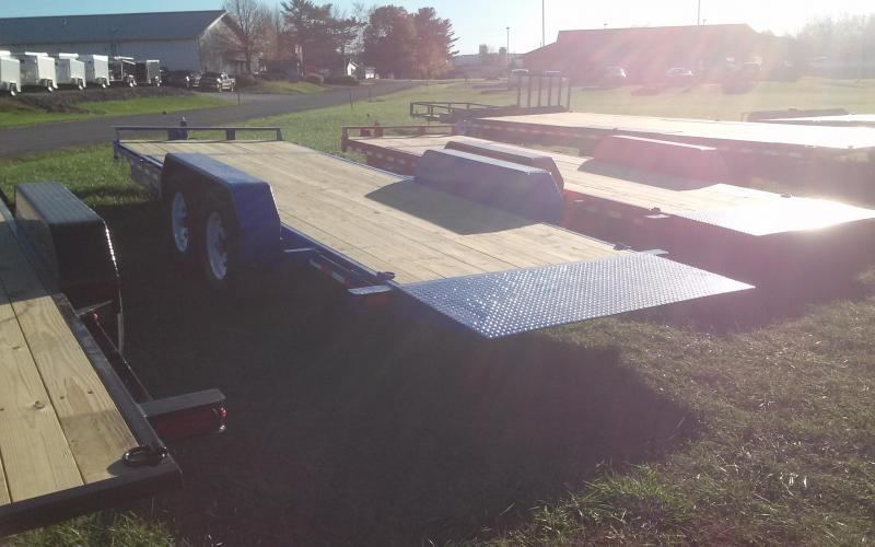 2018 Sure-Trac 7x18+4 partial tilt equipment trailer -14k -LED