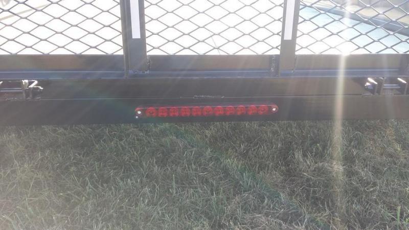2018 Holmes 6-4x12 Open Side Rail 7k Utility Trailer