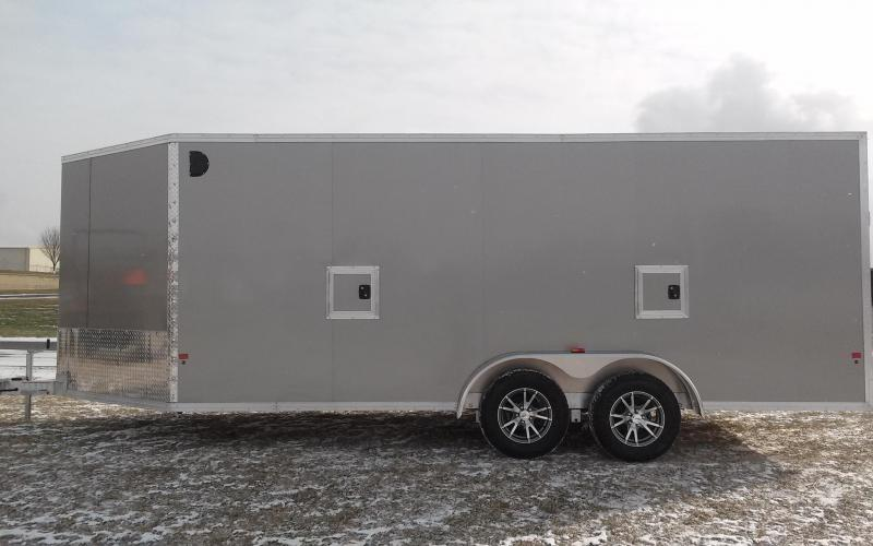 2018 Mission EZES 7x18+4 Enclosed Snowmobile Trailer
