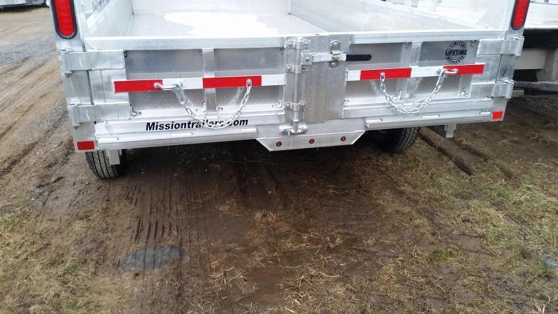 2017 Mission MODP 6x12 Aluminum 10K Dump Trailer