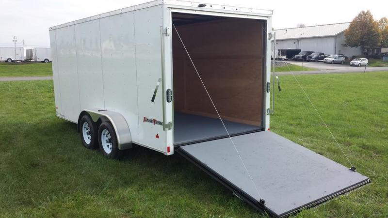 enclosed trailer weight 7 x 16