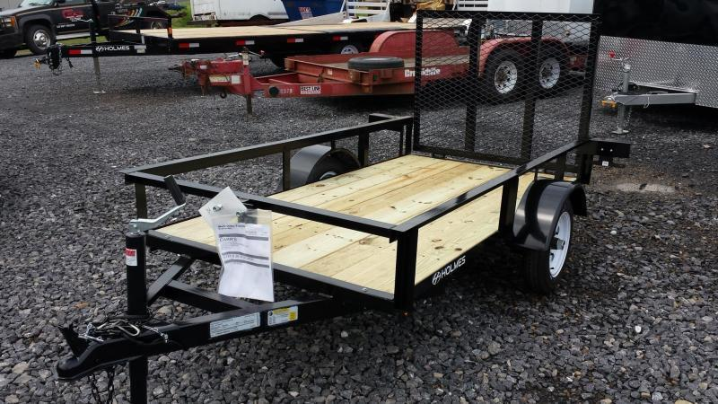 2017 Holmes 4x8 Open Side Rail Utility Trailer