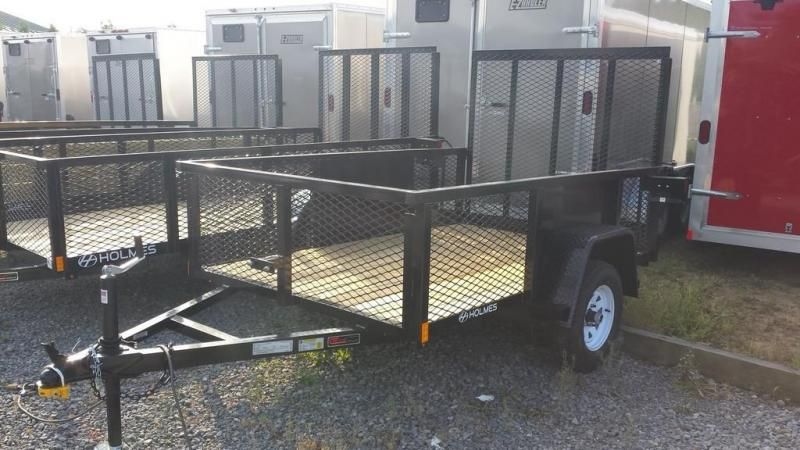 2017 Holmes 5x8 Commercial Mesh Side Utility Trailer