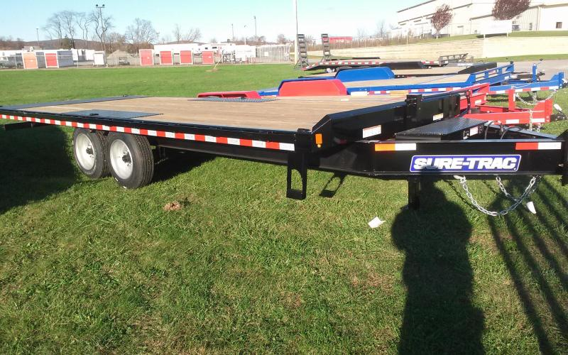 2018 Sure-Trac 8.5x22 17.6K Power Tilt Deckover Equipment Trailer