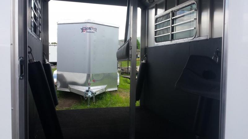 2015 Closeout! Save $2220 - Frontier Aluminum Trailers StarLite Series 2-horse straight load Horse Trailer