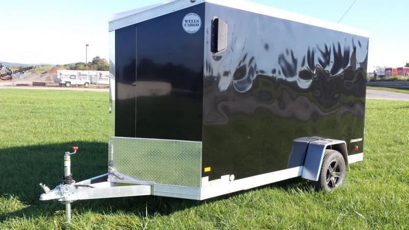 2017 Wells Cargo 6x12 Silver Sport Enclosed Cargo Trailer