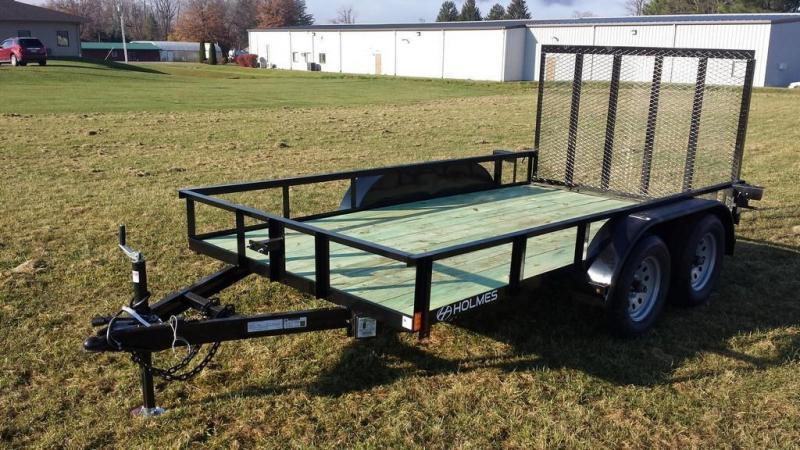 2017 Holmes 6-4x12 Open Side Rail 7k Utility Trailer