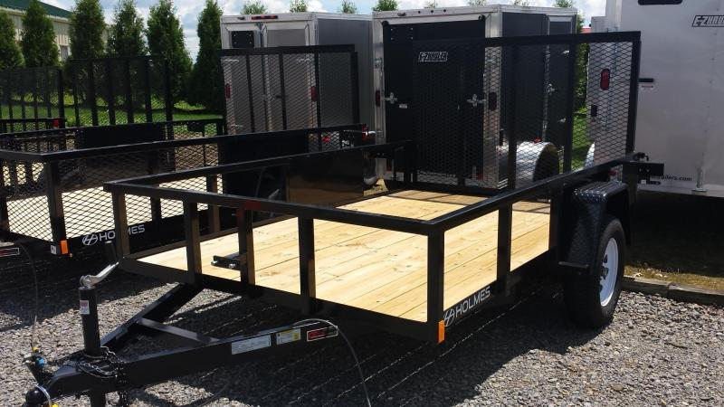 2018 Holmes 6-4x10 Commercial Open Side Rail Utility Trailer