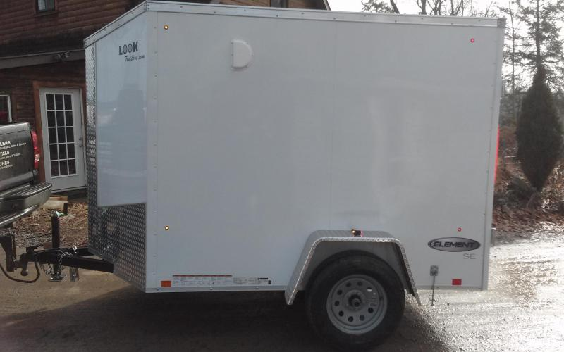 2018 Look Trailers 5x8 Element SE Enclosed Cargo Trailer