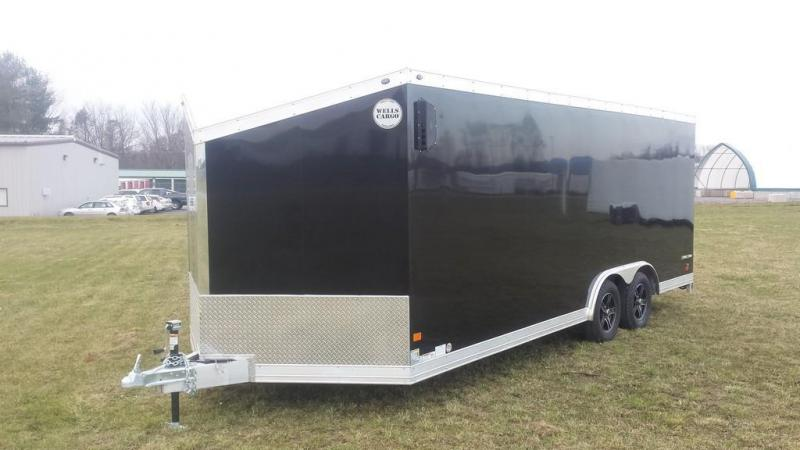 2017 Wells Cargo 8-5x20 Silver Sport Enclosed Cargo Trailer