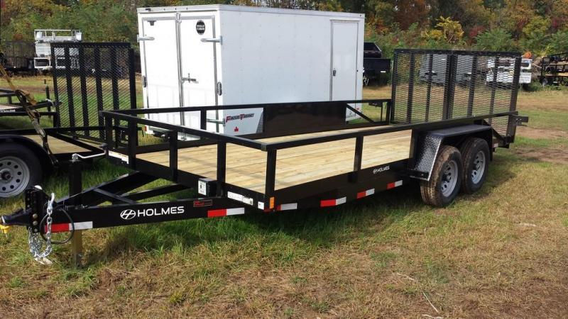 2017 Holmes Commercial 6-10x20 Open Side Rail Landscape Flatbed Trailer