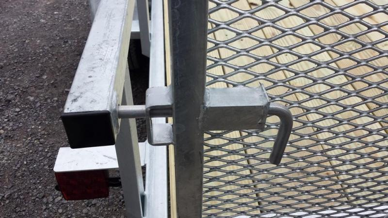 2017 Load Rite 6-5x14 Galvanized Open Side Rail Utility Trailer