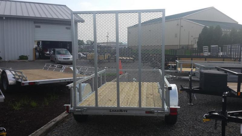 2018 Load Rite 5x10 Galvanized Open Side Utility Trailer