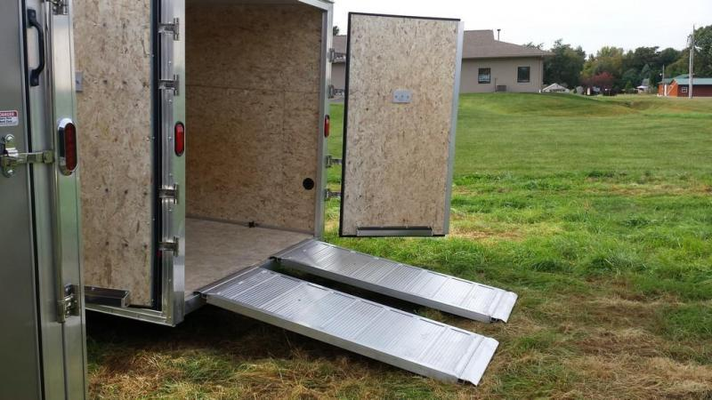 2018 Mission 7x14 all aluminum Enclosed Contractor Trailer