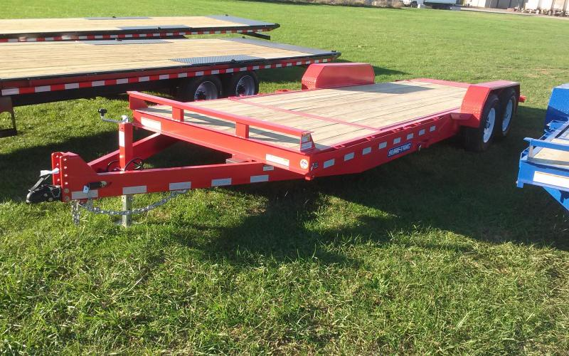 2018 Sure-Trac 7x18+4 partial tilt equipment trailer -14k -LED