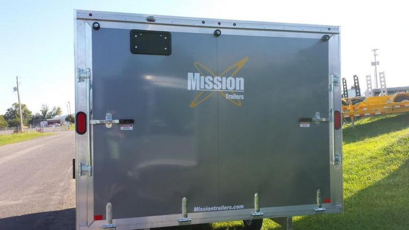 2016 Mission MES 101x12 DL Snowmobile Trailer