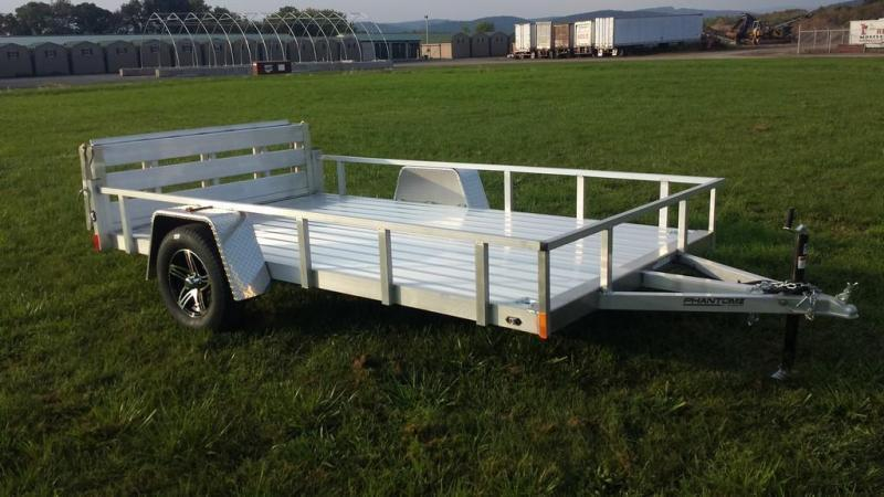2018 Stealth 6-5x12 Alum Open Deck Rail Utility Trailer