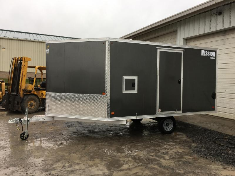 2017 Mission MES 101x12 DL Snowmobile Trailer