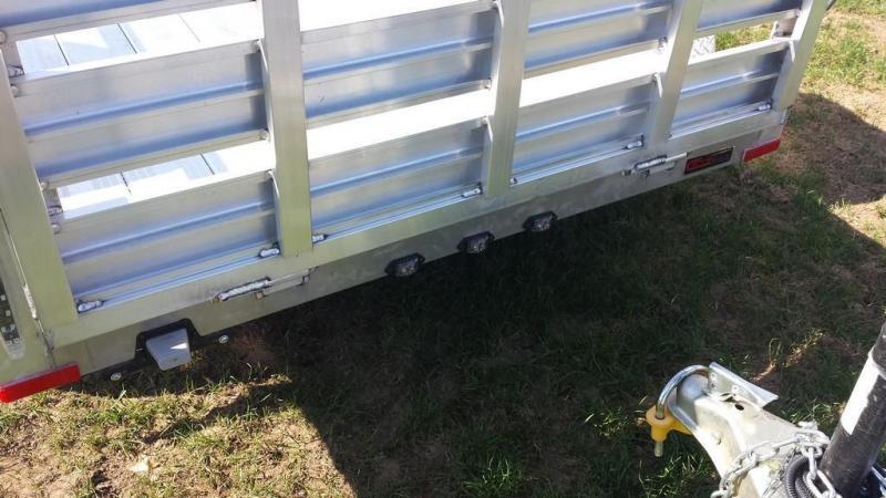 2017 Stealth Trailers 5x8 Alum Open Deck Rail Utility Trailer
