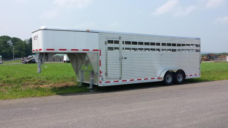 2015 Closeout! Save $1034 - Frontier Livestock Series 24 Gooseneck Stock Trailer