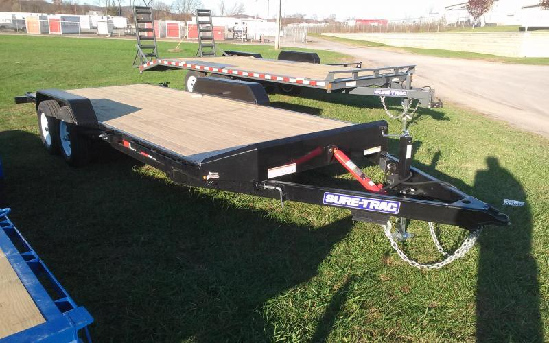 2018 Sure-Trac 7x20 10K tilt deck Car Trailer