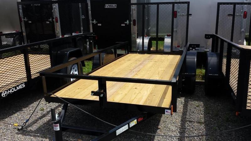 2018 Holmes 5x12 Open Side Rail Utility Trailer