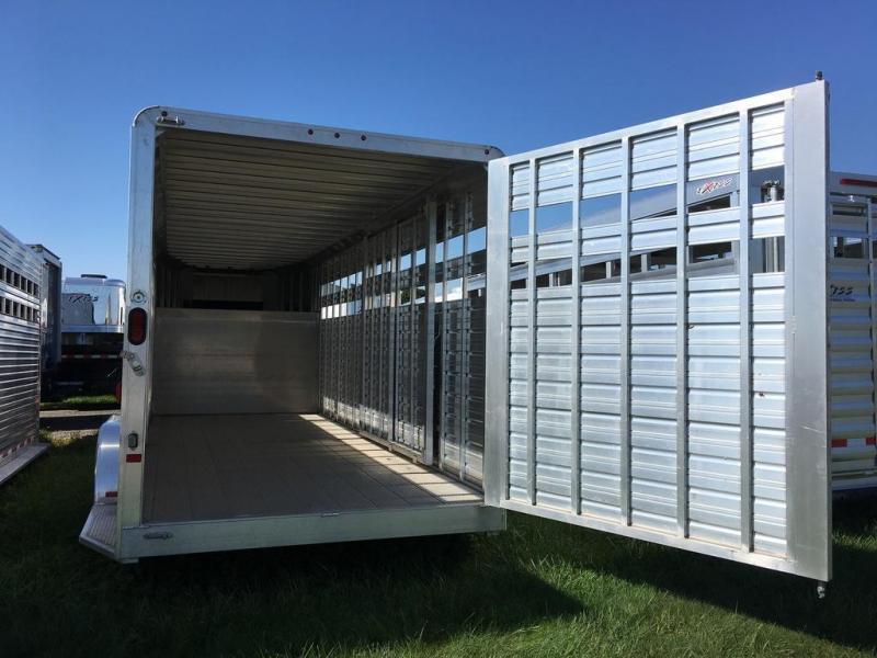 2015 Closeout! Save $1250 -  Frontier Aluminum Trailers 20ft Gooseneck Livestock Series Trailer